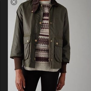 Barbour border heritage chopped border wax women